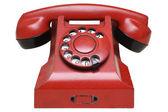 Red retro telephone — Stock Photo