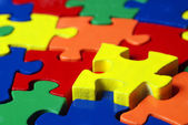Colorful puzzle — Stock Photo