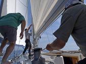 Sailboat action — Stock Photo
