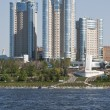 View of the city of Samara in the Volga River — Stock Photo