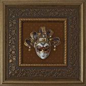 Venetiansk mask i ram — Stockfoto