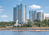 Samara in the Volga River — Stock Photo