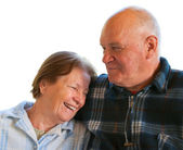 Elderly husband and wife — Stock Photo