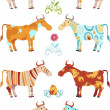 Royalty-Free Stock Vectorielle: Cow set