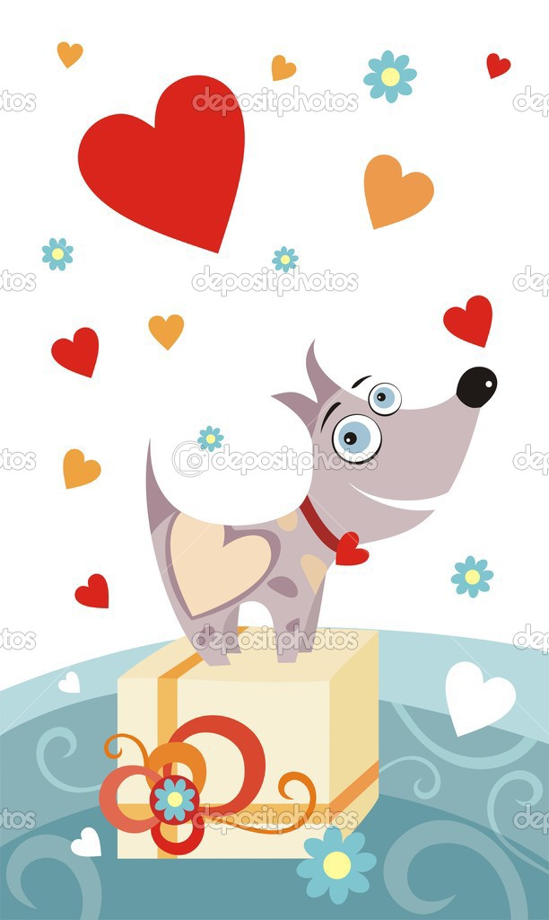 Vector illustration of a valentine card — Stock Vector #3399326