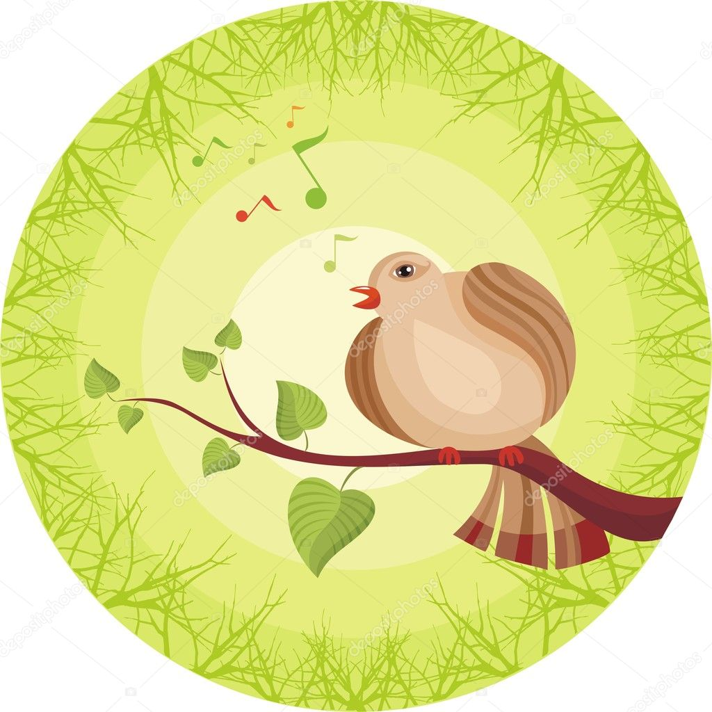 Vector illustration of  a  spring card  Stock Vector #3405092