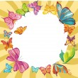 Royalty-Free Stock Imagen vectorial: Butterfly card