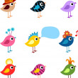 Royalty-Free Stock Vector Image: Bird set