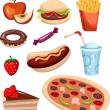 Stock Vector: Fast food set