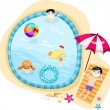 Stock Vector: Swimming pool