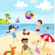 夏のカード — ストックベクタ
