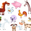 New farm animal set — Stock Vector