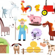 Farm set - Imagens vectoriais em stock