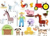 çiftlik seti — Stok Vektör
