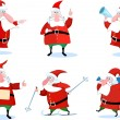 Santa claus set — Stock Vector