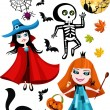 Royalty-Free Stock 矢量图片: Halloween set