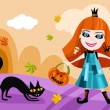 Royalty-Free Stock Vector Image: Halloween card