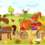 Harvest card — Stock Vector #3796806