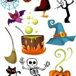 Royalty-Free Stock Imagem Vetorial: Halloween set