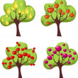 Royalty-Free Stock Vectorielle: Trees set