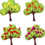 Trees set — Stock Vector