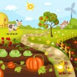 Harvest card — Image vectorielle