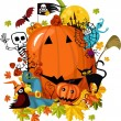 Royalty-Free Stock Векторное изображение: Halloween card
