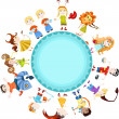 Royalty-Free Stock Vector Image: Children horoscope
