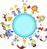 Children horoscope — Stock Vector
