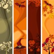 Royalty-Free Stock Imagen vectorial: Halloween banner set