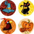 Stok Vektör: Halloween icon set