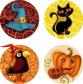 Halloween icon set — Vettoriale Stock