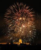 Firework of Budapest — Stock Photo
