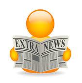 Extra news avatar — Stock Photo