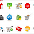 Online shopping icons - Stock Photo