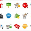 Royalty-Free Stock Photo: Online shopping icons