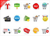 Online shopping icons — Stock Photo