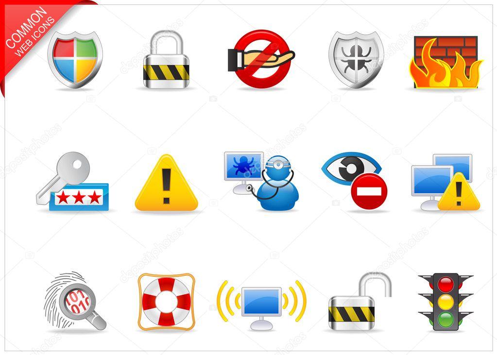 互联网的安全图标