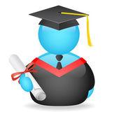 Graduate avatar — Stock Photo