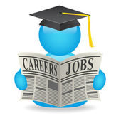 Jobs news avatar — 图库照片