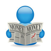 Money news avatar — Stock Photo