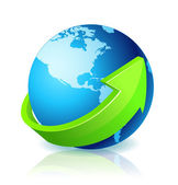 World Globe Go Green — Stock Photo