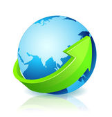 World Globe Go Green — Stock Photo