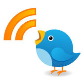 Twitter bird yelling — Foto de Stock