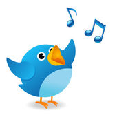 Twitter bird singing — Stock Photo