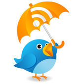 Rss twitter bird — Stock Photo