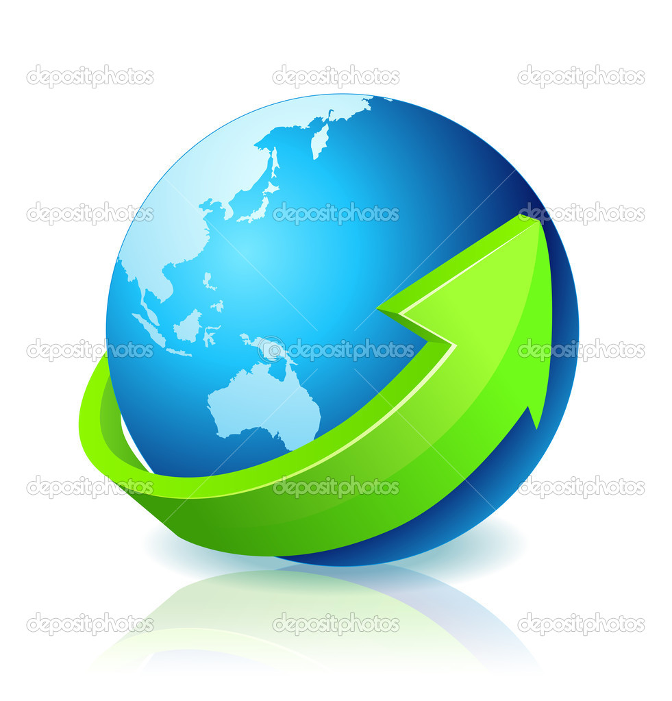 World Globe Go Green — Stock Photo #3469381