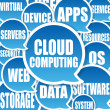 Cloud Computing background - 图库照片