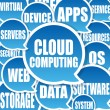 Cloud Computing background - Stock Photo