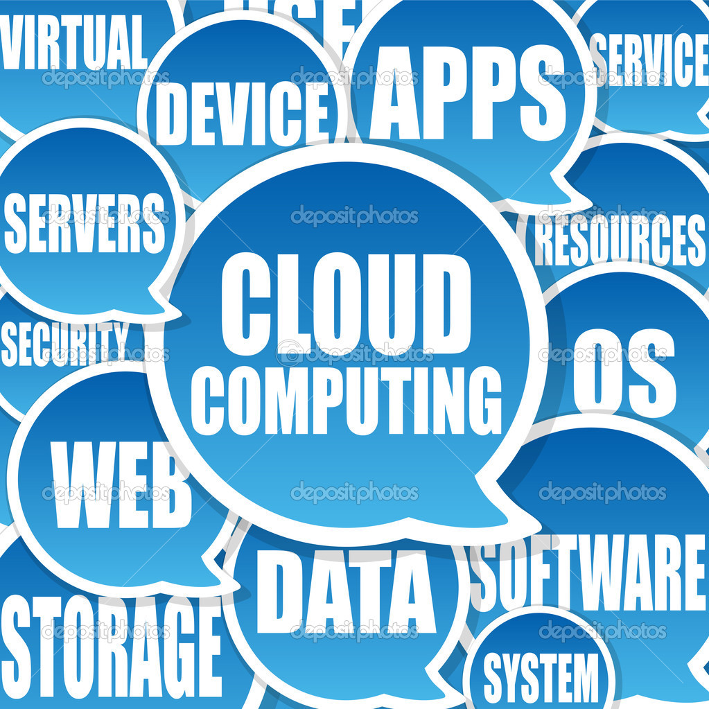 Cloud Computing background  Stock Photo #3545625